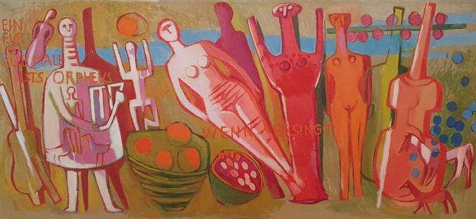 Orpheus, 1936, Öl auf Leinwand, 65 x 140 cm