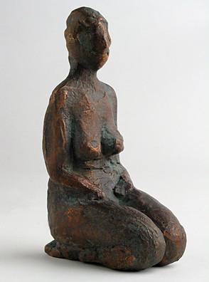 Knieende Frau, undatiert, Bronze