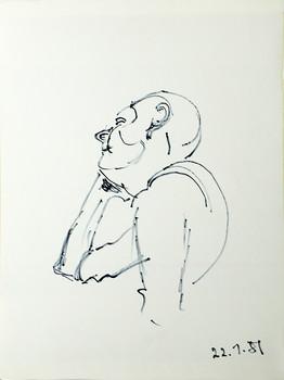 Stefan Britt, 22.1.1981, Filzstiftskizze, 30 x 40 cm