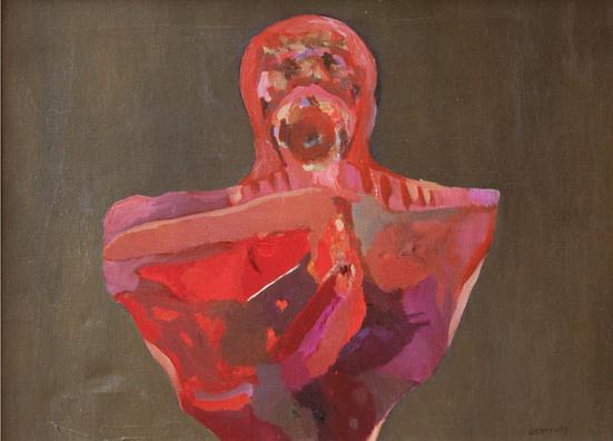 Archaisches Idol, 1963, Öl auf Leinwand