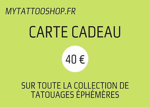 Carte Cadeau - 40 €