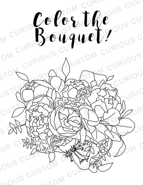 Personalized Wedding Coloring Book
