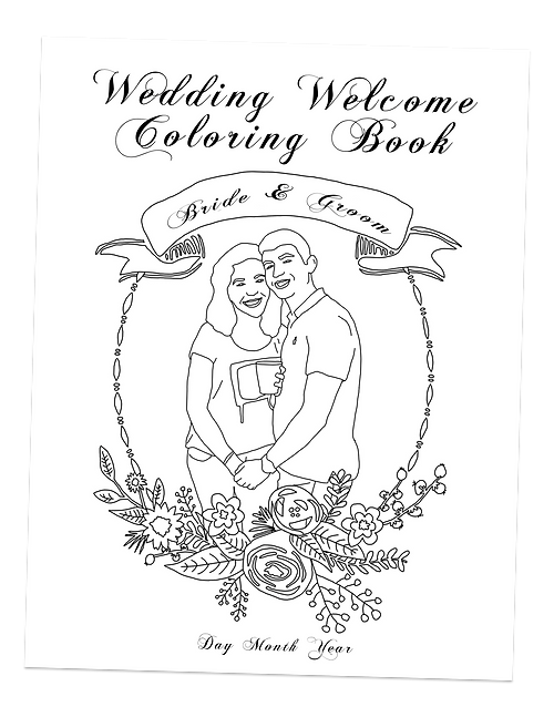 wedding welcome bag coloring book package - Custom Coloring Book