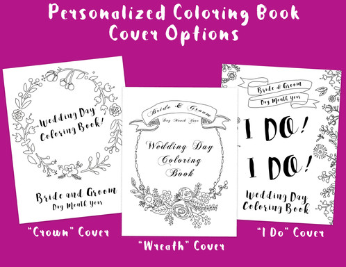 the personalized wedding coloring book is a great option for couples looking for a personalized touch to their wedding this package includes a personalized - Personalized Wedding Coloring Book