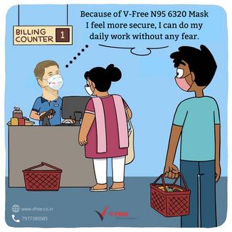 V-Free N95 6320 Mask I feel more secure,