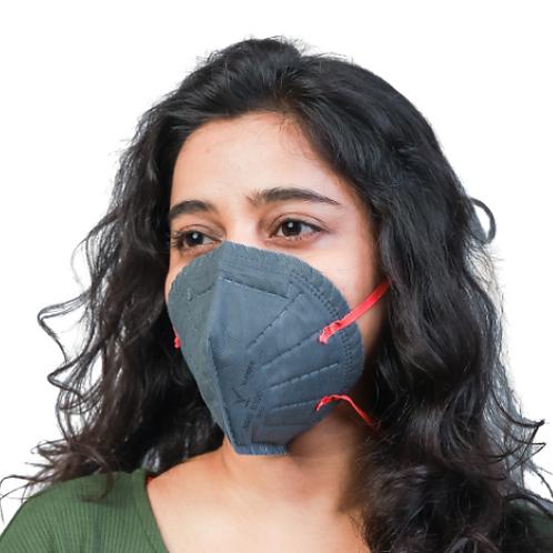 V-FREE N95 6320 FFP2 5 Layer Grey Female Respirator Mask (Pack of 3)