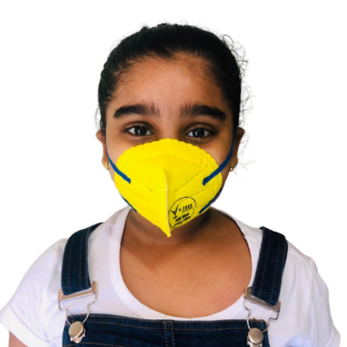 V-FREE N95 6320 FFP2 5 Layer Yellow Children Respirator Mask (Pack of 3)