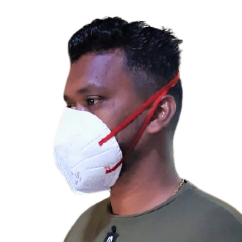 V-FREE N99 6110 FFP3 6 Layer White Respirator Mask (Pack of 3)