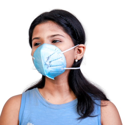 V-FREE N95 6320 FFP2 5 Layer Blue Children Respirator Mask (Pack of 3)