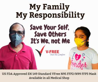 V-Free N95 6320 Mask - My Family My Resp