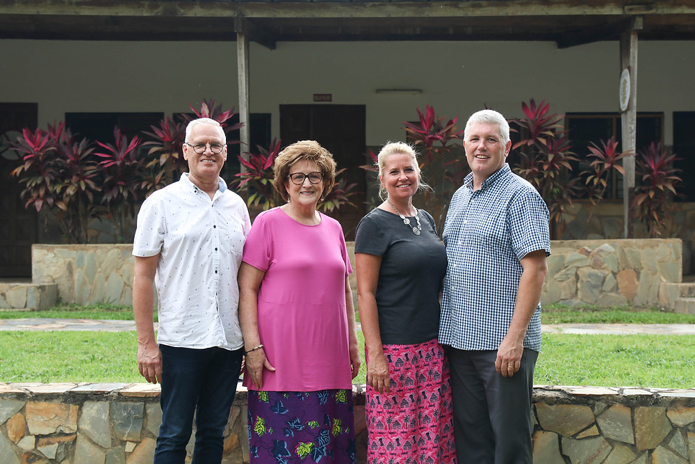 ABWE Vice President Dave and Debbie Woodard with President Paul and Martha Davis
