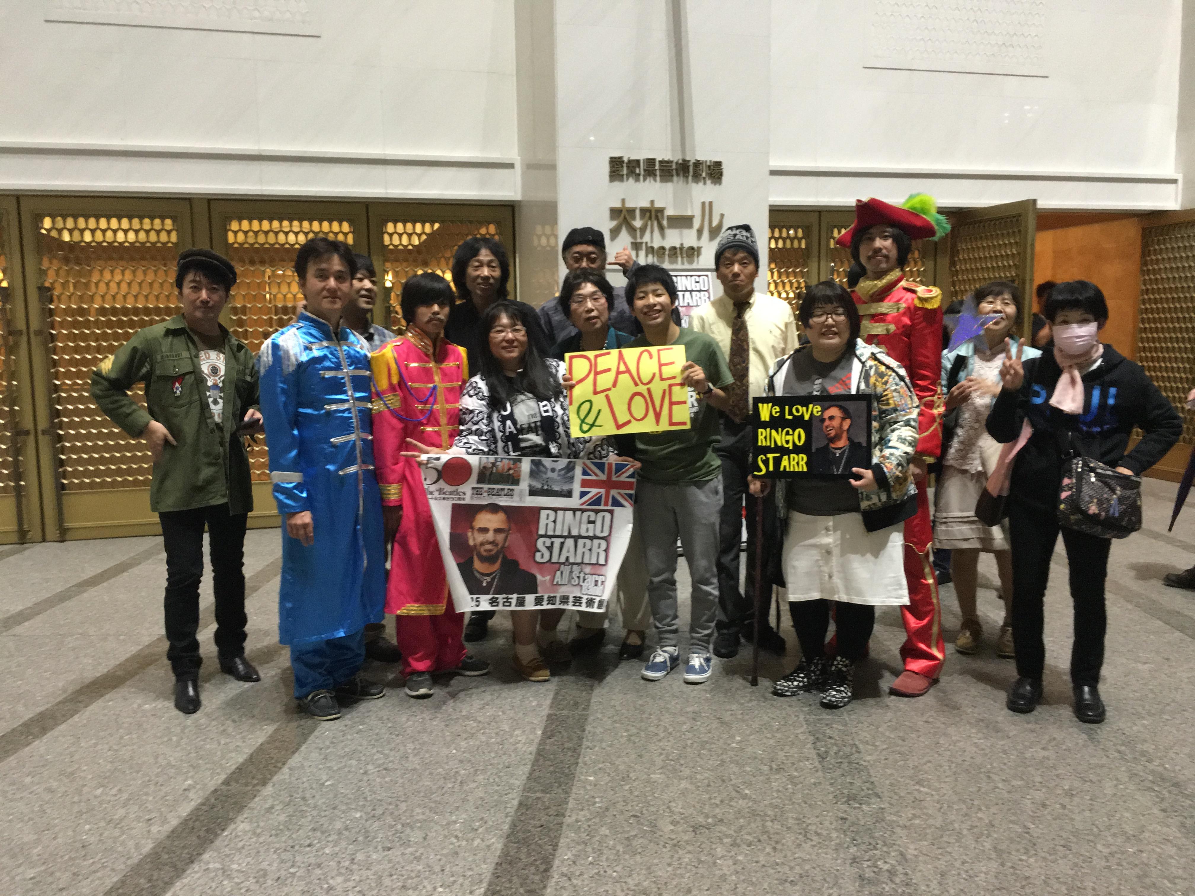2016 10/25 リンゴ スター 来日ツアー集合写真 企画