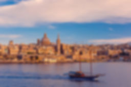 Valletta Skyline with ship at beautiful