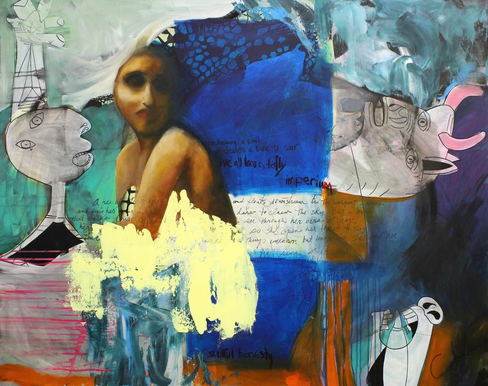 48 x 60 Mixed Media on Canvas