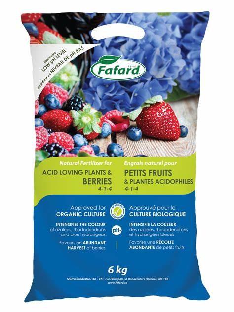Engrais naturel 6kg pour petits fruits & plantes acidophiles