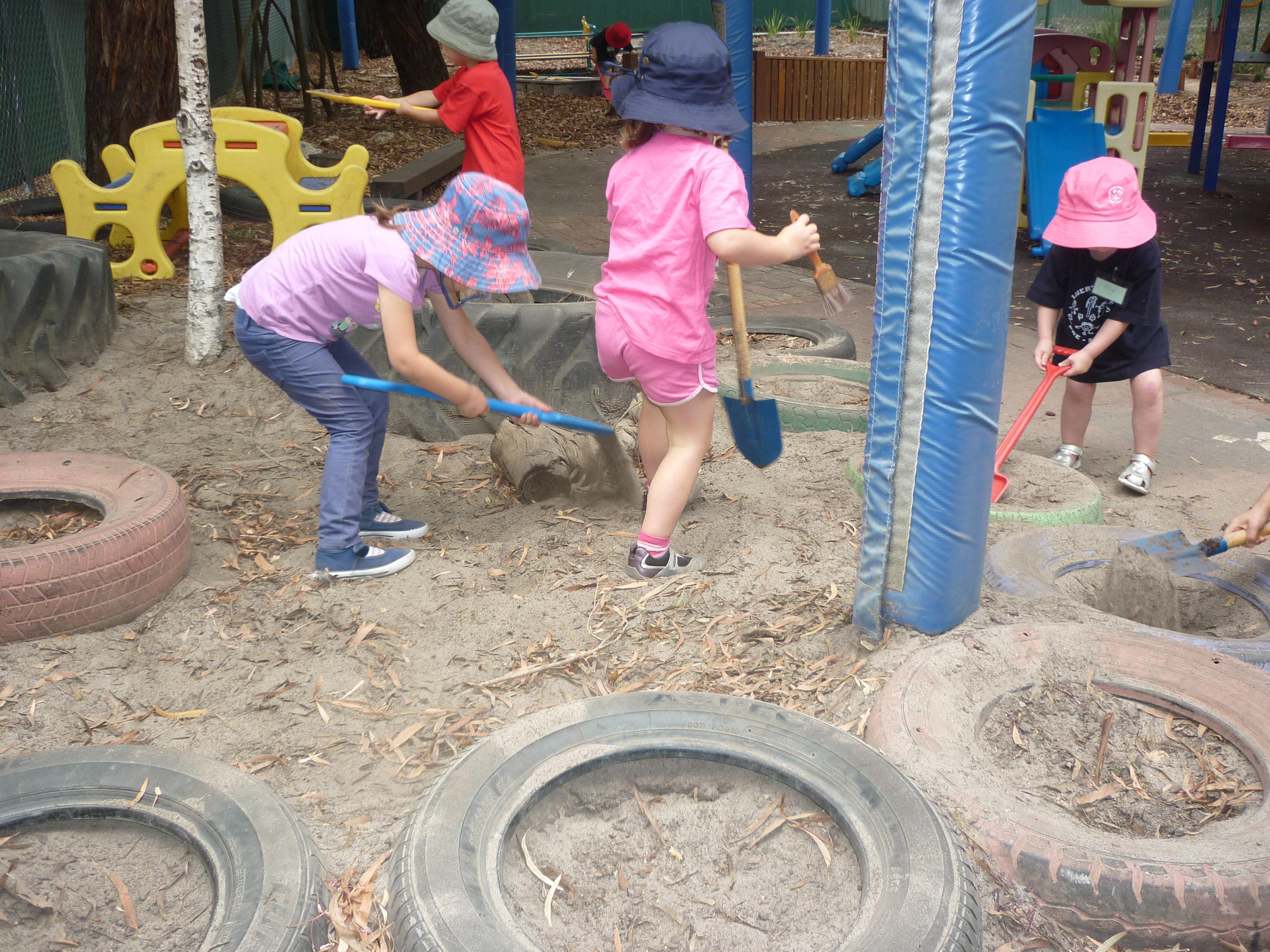 Digging together