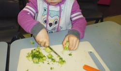 Making vegetabe soup