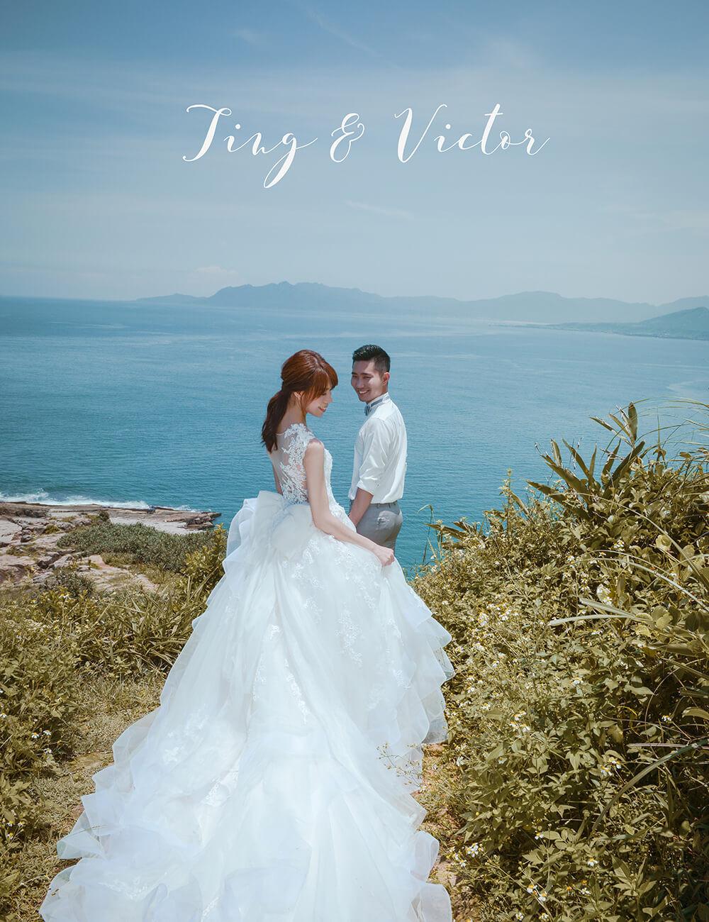Victor&Ting的淡藍色夏季婚紗