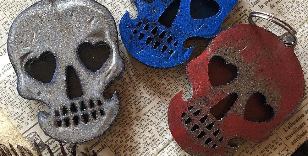 Skull Metal Effect Key Chain