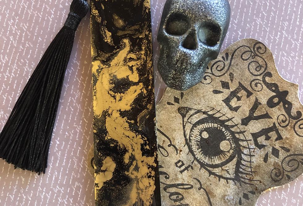 """Black Shadow"" resin bookmark"