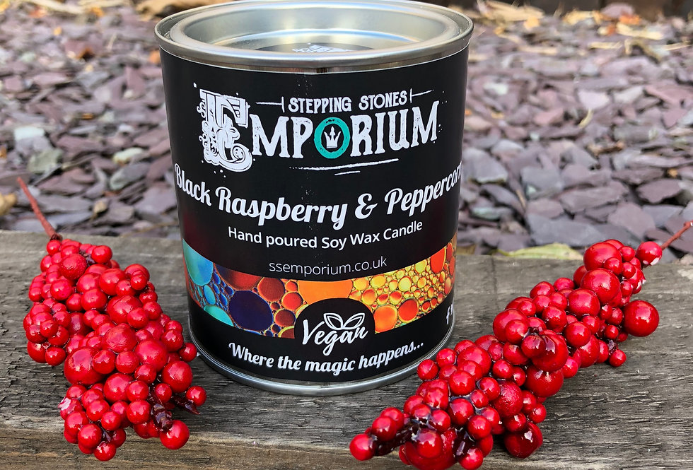 Black Raspberry and Peppercorn Soy Container Candle