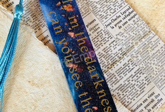 Stars Quote Resin Bookmark