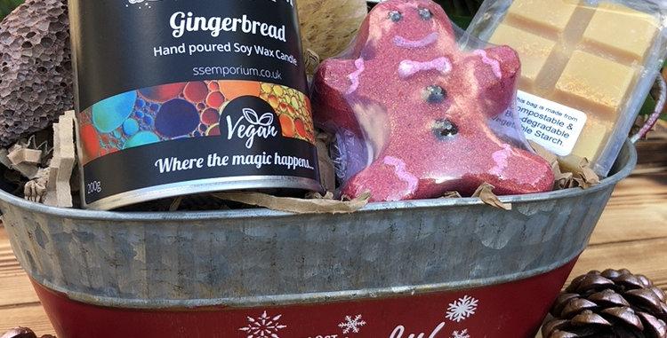 Gingerbread Bath Indulgence Festive Hamper