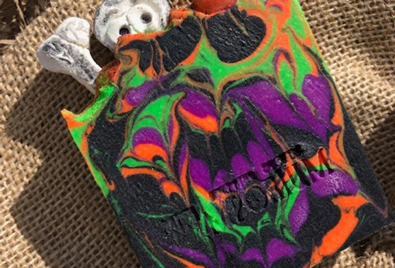 """Black Buried"" Halloween Soap Slice"