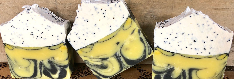 Zesty Lemon Mountain Exfoliation Soap Slice