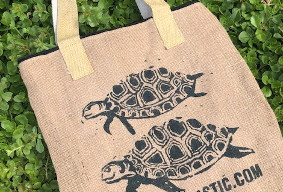 Eco-friendly Jute statement shopping bag