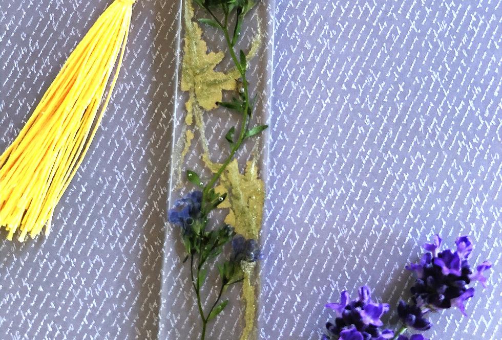 """Lavender Blue"" resin bookmark"