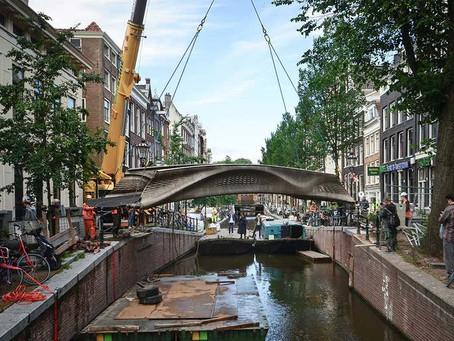Primeira ponte de aço impressa em 3D do mundo é inaugurada em Amsterdã