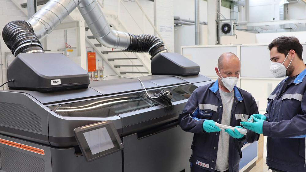 impressão 3D em montadoras
