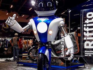 Produção 3DTEK Mascote Riffel Salão 2 Rodas #impressao3d #salao2rodas www.3dtek.com.br Pedroso de Mo