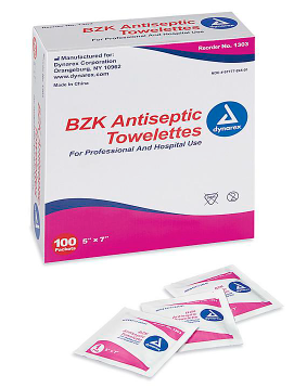 Antiseptic Wipes (Box of 100)
