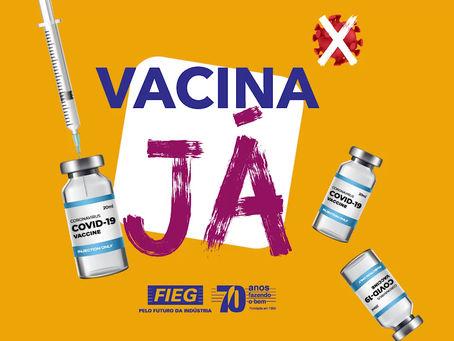 O presidente da Fieg, Sandro Mabel, lança campanha #VacinaJá