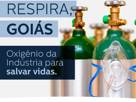 Fieg lança campanha 'Respira Goiás' para abastecer hospitais com cilindros de oxigênio