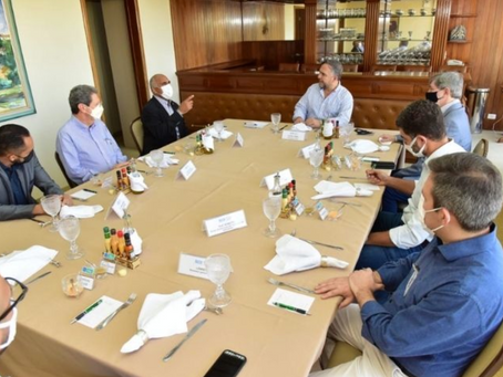 Sandro Mabel recebe prefeito de Goiânia, Rogerio Cruz