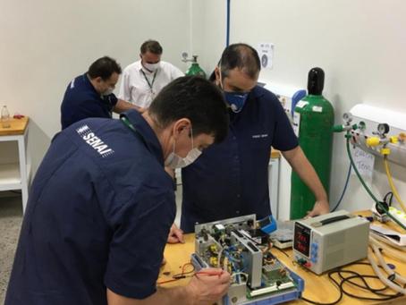Senai, UFG e parceiros entregam respiradores mecânicos recuperados