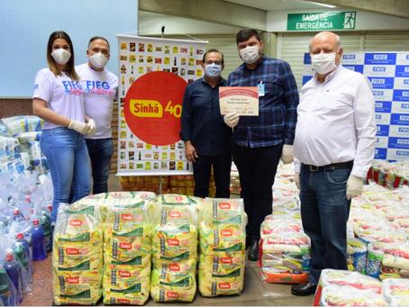 Fieg Mais Solidária promove doação de 40 toneladas de produtos