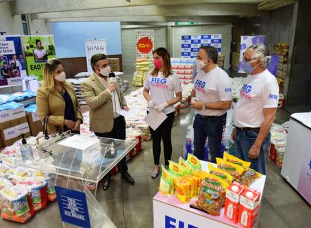 Fieg Solidária faz doação de mais 5 toneladas de produtos