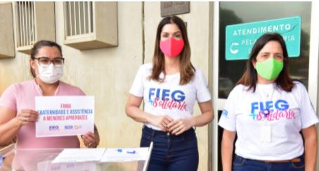 Fieg + Solidária promove mais uma distribuição de donativos