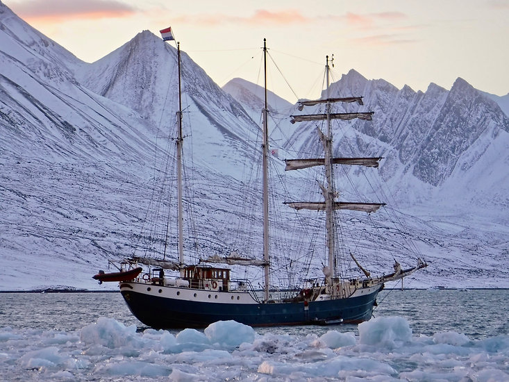 Tallship Antigua in the arctic circle
