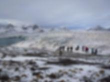 Arctic circle glacier at Esmarkbreen