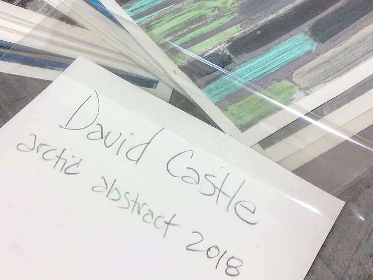 Artist David Castle abstracts