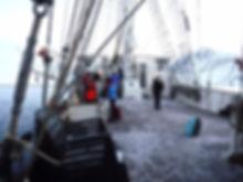 Deck of the tallship Antigua