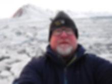 Artist David Castle in the arctic circle