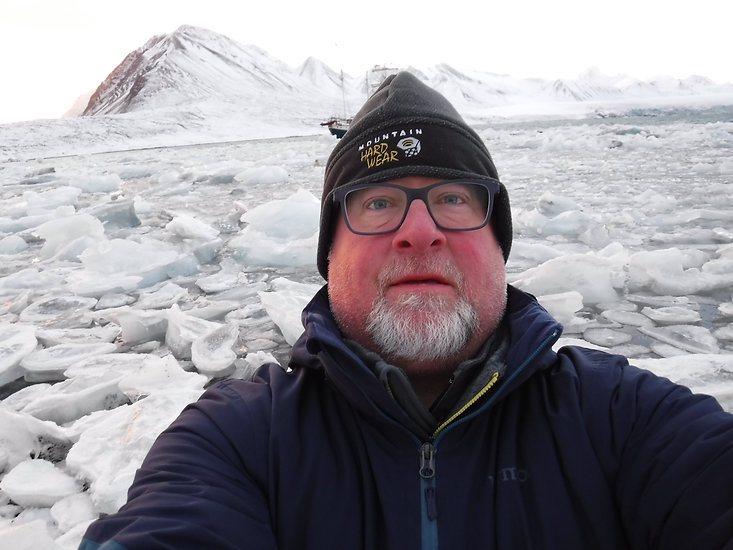 Artist David Castle in the arctic circle