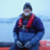 Artist David Castle, freezing cold in the arctic circle.
