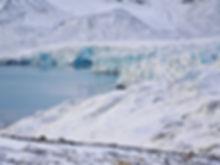 Arctic circle glacier